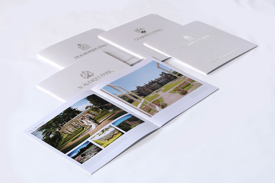 Brochures illustration 1, part of our work for Country House Weddings