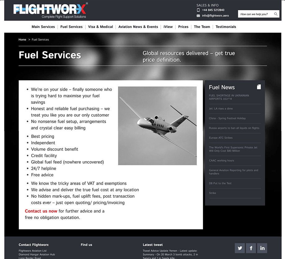 Website illustration 16, part of our work for Flightworx