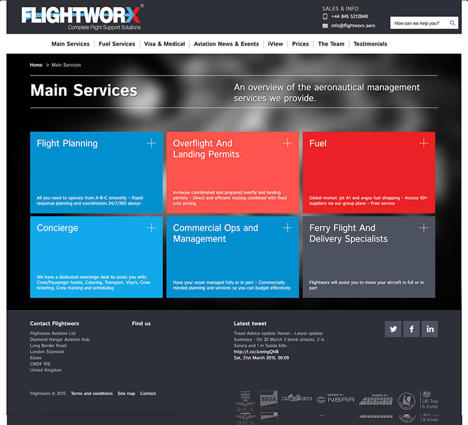 Website illustration 17, part of our work for Flightworx