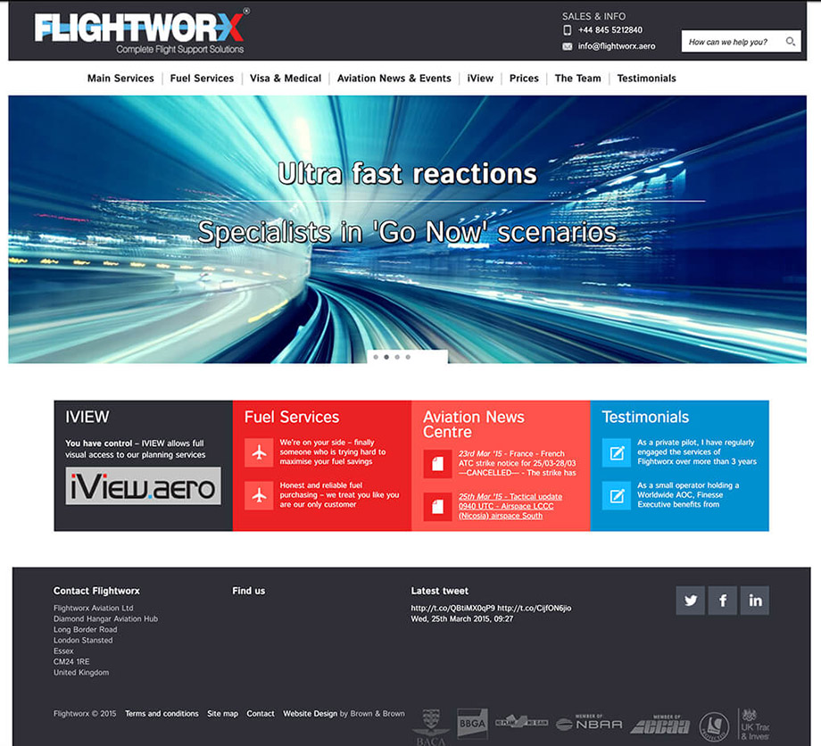 Website illustration 18, part of our work for Flightworx