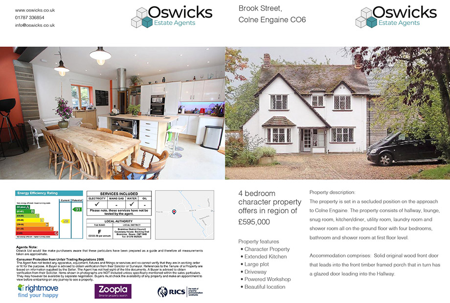 Stationery illustration 8, part of our work for Oswicks Property Professionals