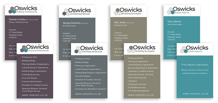 Stationery illustration 11, part of our work for Oswicks Property Professionals